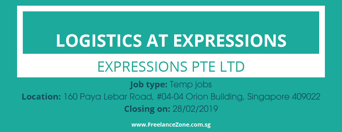 Logistics At Expressions needed | Temp position job in Singapore