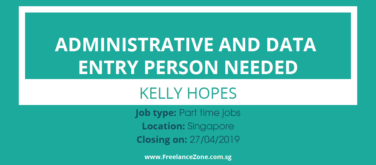 Administrative And Data Entry Person Needed needed | Part time