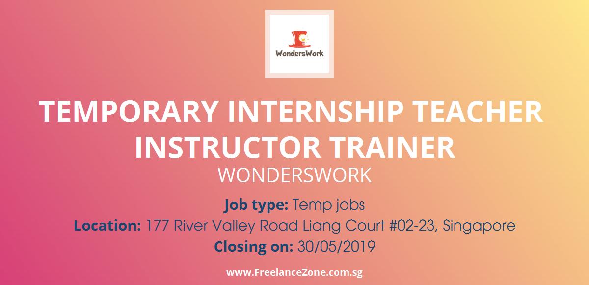 Temporary Internship Teacher Instructor Trainer Needed